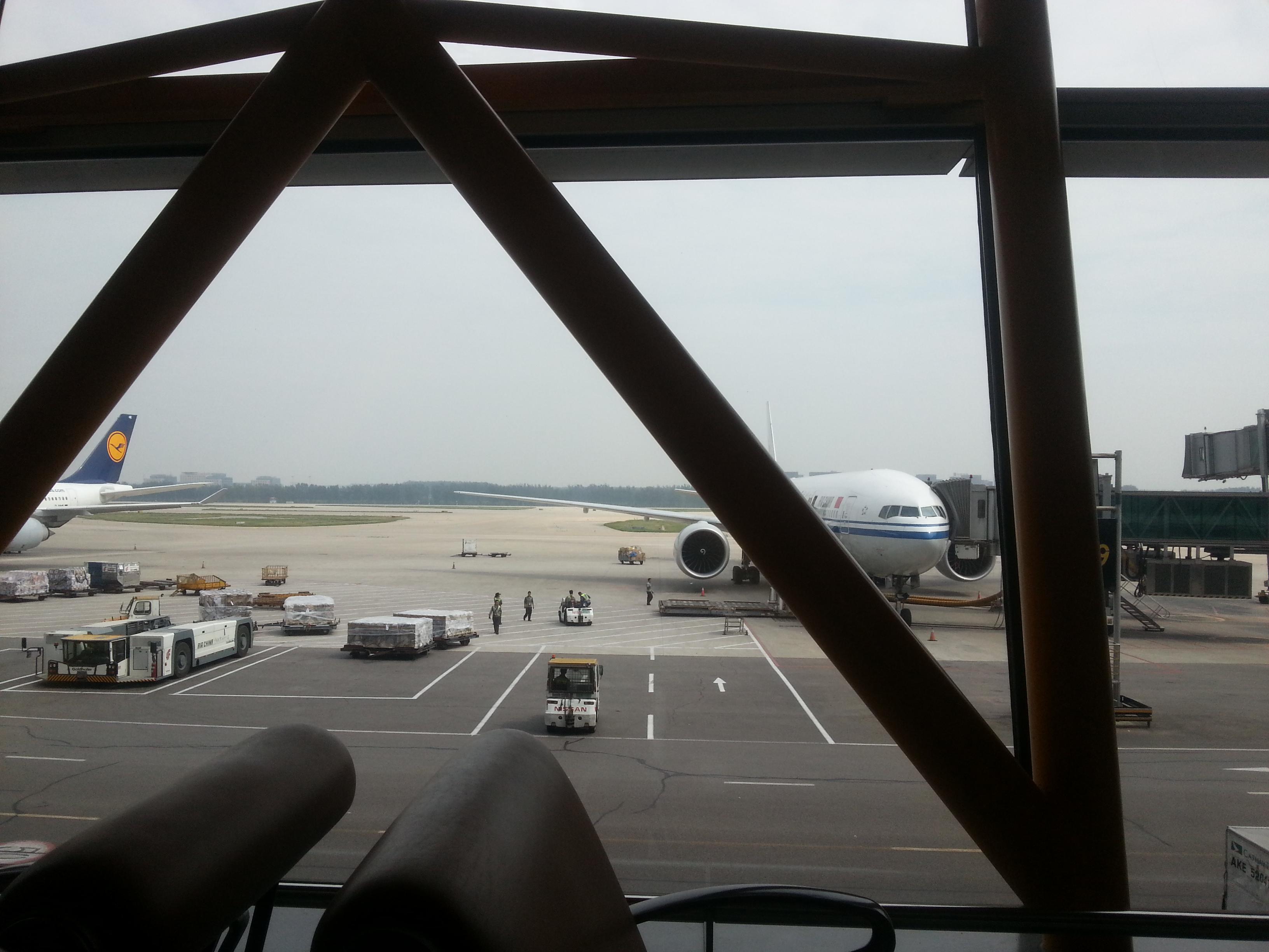 Halfway there – waiting in Beijing!
